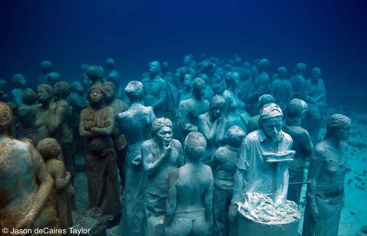 Jason deCaires Taylor. Подводная скульптура La evolución silenciosa