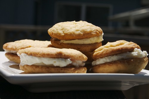 lemon cookies with cream cheese frosting inside