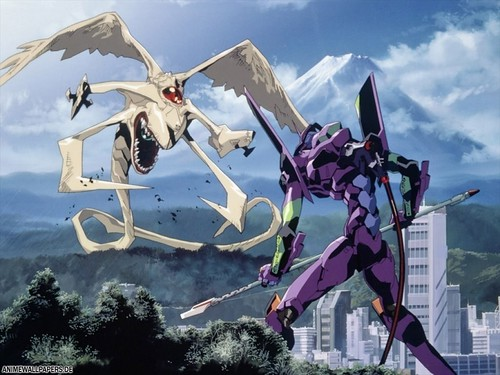 Angel y Eva 01 de Neon Genesis Evangelion