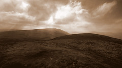 take a hike (Ray Byrne) Tags: sepia landscape hills northumberland canon350d doom moor uplands cheviots landscapephotography thecheviots cheviothills raybyrne monochromia byrneoutcouk webnorthcouk