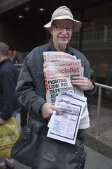 Socialist newspaper salesman