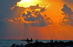 Beautiful Ending to a good Day (RMac_Photography) Tags: ocean sea summer vacation sky art beach water beautiful silhouette clouds d50 tampa geotagged landscapes amazing cool nikon florida sunsets rmac clearwater amazingphoto