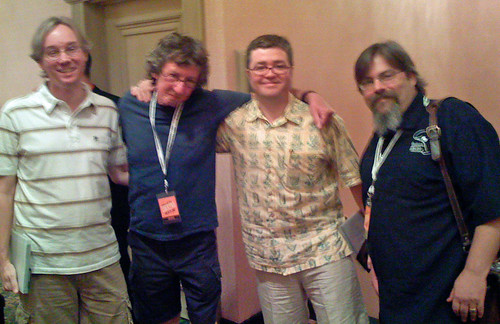 Wes, Gary Regan, me  and Dave Wondrich