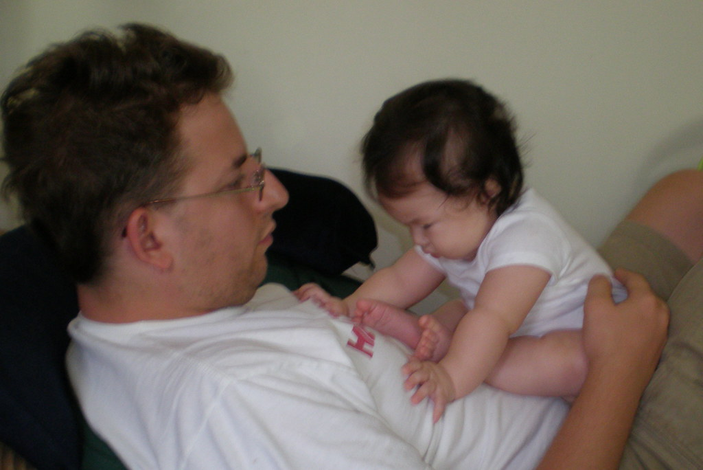 Ava on Daddy