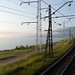 train passing lake Baikal