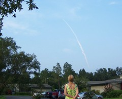 Mom watching launch (Hannah_Jane) Tags: shuttle endeavour