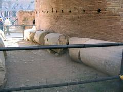 Rome 057 (Xeraphin) Tags: italy rome archaeology ancient roman amphitheatre colosseum arena coliseo flavio coliseum column amphitheater archeology titus colliseum colosseo anfiteatro colise vespasian collusseum flavian hypogeum anfiteatroflavio ilcolosseo flavium amphitheatrum
