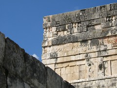 Temple of the Jaguar detail (Jason-Morrison) Tags: trip vacation mexico temple ruins honeymoon yucatan chichenitza relief mayan chichnitz ballcourt templeofthejaguar