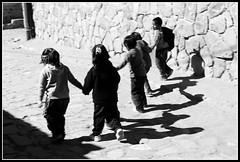 Niños de Tilcara saliendo del cole (zaqi) Tags: trip travel school blackandwhite bw holiday blancoynegro argentina kids noiretblanc niños bn biancoenero noa jujuy chicos tilcara zaqi mywinners superbmasterpiece ysplix szaqii myargentina