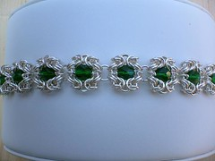 Emerald Romanov Chainmaille Bracelet (thechainmaillemuse) Tags: bracelet emerald chainmail romanov chainmaille