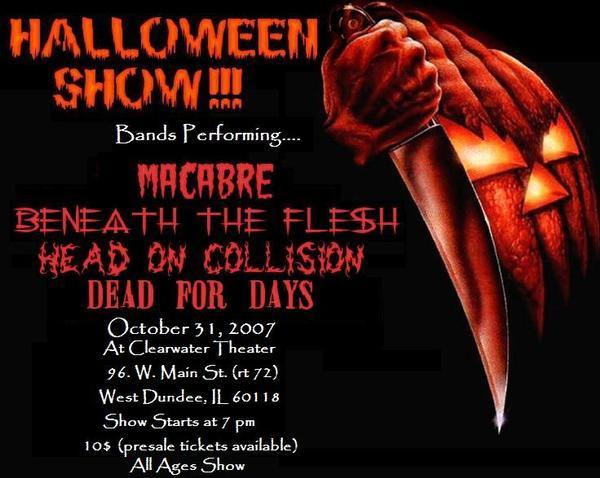 halloween show flyer
