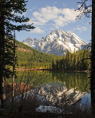 String Lake (bhophotos) Tags: travel usa mountain lake snow reflection nature landscape geotagged spring nikon wyoming tetons jacksonhole grandtetonnationalpark mtmoran stringlake d700 2470mmf28g