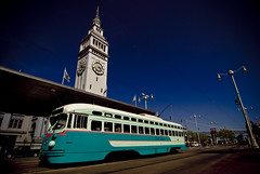Washington DC trolley in front of the Ferry Building in San Francisco (Greg - AdventuresofaGoodMan.com) Tags: sanfrancisco california street city usa building car cali ferry america vintage bay washingtondc dc washington san francisco publictransportation trolley tracks muni castro transportation embarcadero cablecar bayarea fishermanswharf sanfran sanfranciscobay marketstreet streetcar sfist fline 1076 fmarket dctransit msrcalendarsubmission dctransitstreetcar1076