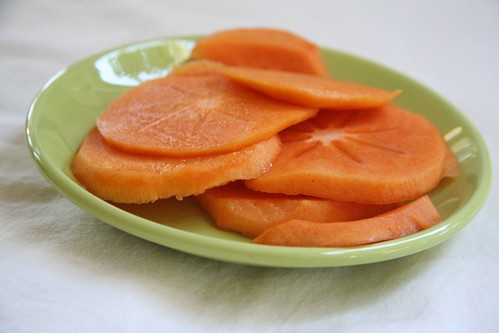 Persimmon: sliced