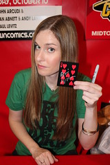 Blair Butler with the Black Tiger Card (excalipoor) Tags: show new york nyc newyorkcity ny newyork game anime comics october comic geek manhattan attack manga games exhibition midtown geeks videogames gaming autograph convention comicbooks fans fanboy comiccon signing fandom con geekdom playingcard 2010 javits javitscenter aots attackoftheshow fanboys nycc freshink newyorkcomiccon blairbutler animefestival nineofhearts tigercard blacktigercard nycc2010 newyorkcomiccon2010