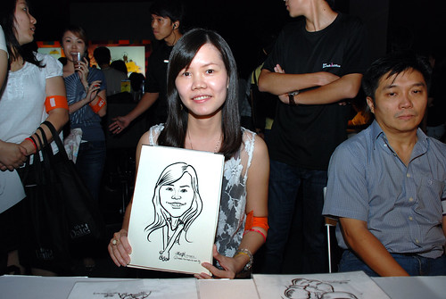 caricature live sketching for SDN First Anniversary Bash - 13