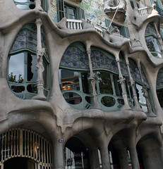 Gaudi Architecture (Al Meakin) Tags: barcelona architecture buildings spain curves style gaudi canon400d