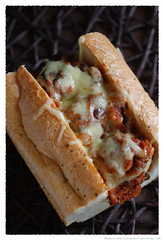Turkey Meatball Baguette© by Haalo