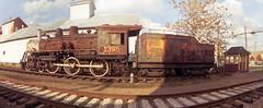 Train 1395 (lisbokt) Tags: railroad panorama composite rural train countryside rust decay mtro rail railway zug multiple locomotive bahn stitched  ironrust   zuh composited trane benizer bokehpanorama brenizermethod thebrenizermethod
