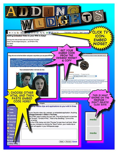Adding widgets to Wikispaces