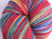 "4.4 oz BFL Aran Yarn ""Misguided Rainbow"""