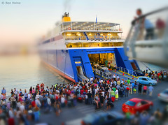 Miniature - 2 (Ben Heine) Tags: road park street camera cruise light wallpaper people urban panorama orange inspiration blur green art cars colors field clouds composition contrast port photoshop buildings landscape photography harbor boat town seaside scenery ship play lego earth lumire taxi