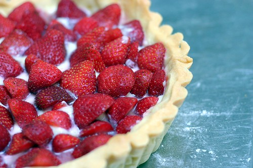 classic strawberry tart