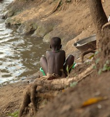 Boy Washing Clothes (Jason Brooks) Tags: africa people animals buildings sudan sights dinka juba ethnographic nuer southernsudan anyuak