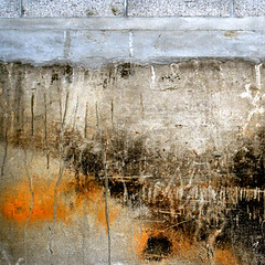 mandarin (nolando) Tags: camera orange abstract color colour detail texture japan wall composition contrast digital canon square paint decay kagoshima minimal crop colourful simple surfaces 2007 concretecanvas nolando