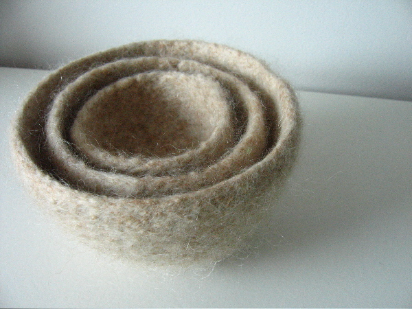nested felted bowls