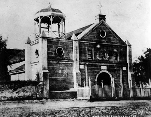 Plaza Church in 1870