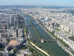 Looking South West from the top of the Eiffel Tower