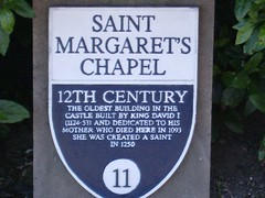 saint margaret's chapel plaque, edinburgh castle (hectoriust) Tags: plaque scotland edinburghcastle 11 plaques stmargaret saintmargaretschapel