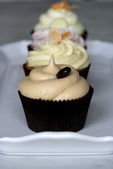chocolate espresso cupcake with salted caramel frosting