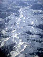 LAX to Toronto (22) (kexi) Tags: winter usa white snow mountains up america flying high nikon colorado flight aerial coolpix february 2010 windowseat instantfave kartpostal thebestofday