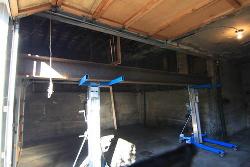 New beam for garage