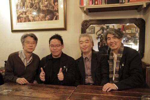 filmmaker Takahashi Yoichiro, me, Ishizaka-san and Prof Ando
