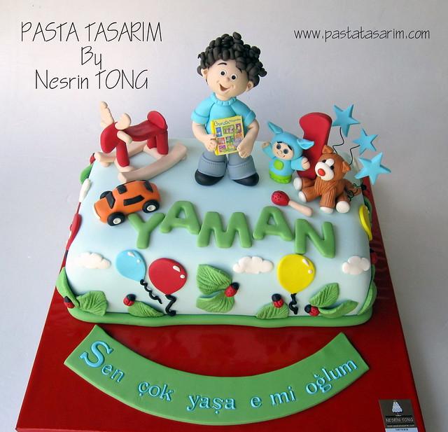 1ST BIRTHDAY CAKE - YAMAN