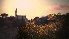 Settignano (Blucat79) Tags: sunset red sky texture church landscape countryside tramonto tuscany firenze toscana chiesetta settignano bej abigfave anawesomeshot viadelrossellino