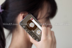 Cassette tape-D decal sticker skin for apple iphone 4