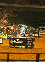(.emily.) Tags: dallas dance texas dancing audience clown crowd dirt rodeo pbr bullriding barrelman flintrasmussen builtfordtoughseries