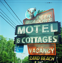 ADK-1 (Buck Lewis) Tags: color 120 film sign rolleiflex fuji motel adirondacks deer adk rollieflex thephotoholic