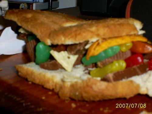 Candy Sandwich up close