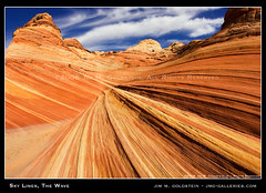 Sky Lines, The Wave (jimgoldstein) Tags: red arizona sky orange southwest lines yellow rock landscape utah desert canyon layer fv10 geology wilderness sedimentary pariacanyon coyotebuttes vermillioncliffs naturesfinest vermilioncliffs supershot 1500v60f flickrsbest abigfave jmggalleries anawesomeshot jimmgoldstein pariacanyonvermilioncliffswilderness