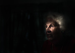 (parade in the sky) Tags: blue light portrait woman indoors elderly colorphotoaward