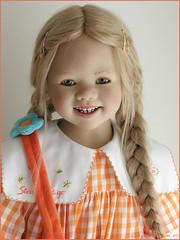 Lillemore in orange (MiriamBJDolls) Tags: 2007 doll vinyl annettehimstedt himstedtkinder lillemore limitededition orange clubdoll