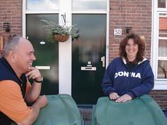 Chris en Petra lachen
