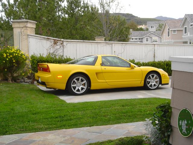 california county orange 2004 yellow honda acura nsx vtec