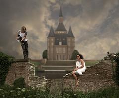 Le jardin du chteau (Mattijn) Tags: music castle cat garden guitar photomontage heemstede pino chteau photoart mattijn anideg