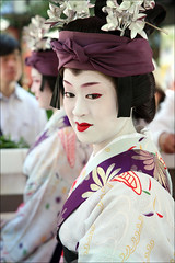 M A S A Y O (mboogiedown) Tags: travel summer woman white beauty festival japan asian japanese interestingness kyoto asia traditional culture explore geiko geisha kimono gion tradition shinto kansai matsuri komachi odori allure katsura higashi masayo i500 oshiroi discoverkyoto
